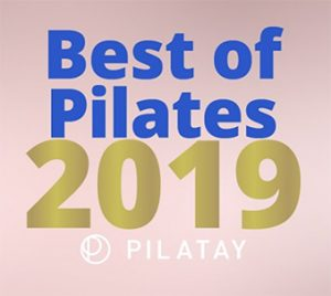 logo for best of pilates 2019