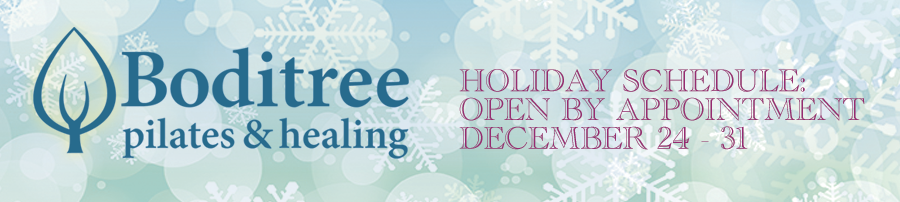 Boditree Holiday Hours Dec 24 - 31